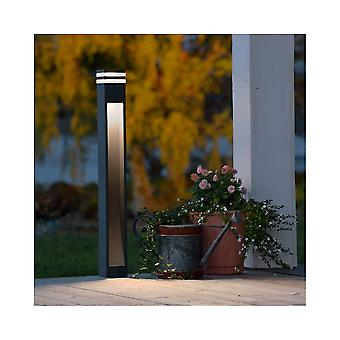 Konstsmide Massa Grey Garden Bollard Post Light With Acrylic Lens