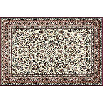 Kasbah Red 13720-475 Ivory ground with red border Rectangle Rugs Traditional Rugs