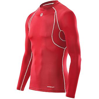 Carbonyte Long Sleeve Baselayer Top peaux masculines [rouge]