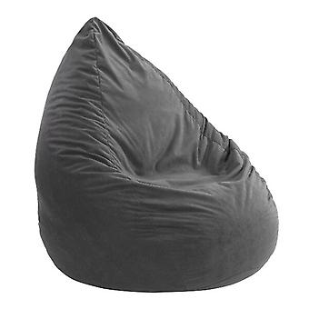 Coussin de sac d'haricot Microvelour Chillkissen ANTHRACITE 90 x 60 x 60 cm