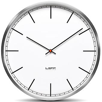 LEFF Amsterdam One45 Stainless Steel Wall Clock, White Index