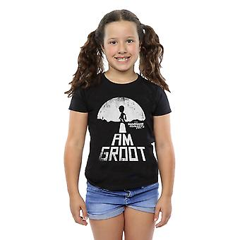 Marvel Girls Guardians of the Galaxy I Am Groot White T-Shirt