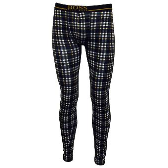 Hugo Boss Classic Check 24 Print Long Johns, Blue