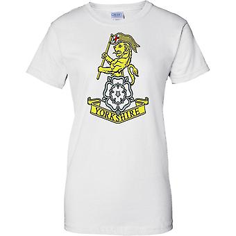 Licensed MOD -  British Army Yorkshire Regiment Insignia - Ladies T Shirt