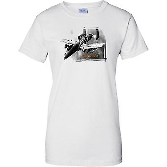 A10 Wart Hog - The Flying Gun - USAF USMC - Legendary Aircraft - Ladies T Shirt
