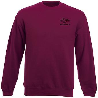 Royal Regiment Of Fusiliers Text Embroidered Logo - Official British Army Heavyweight Sweatshirt