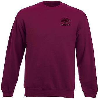 Königliches Regiment Füsiliere Text Stickerei Logo - offiziellen britischen Armee Schwergewichts-Sweatshirt