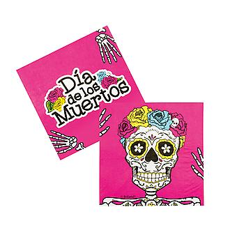 Halloween Day Of The Dead Pack of 12 Napkins Party Accessory