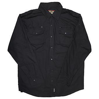 Live mekanik veletableret skjorte sort