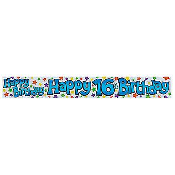 Expression Factory Childrens Boys Happy 16th Birthday Foil Banner