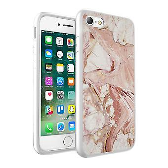 i-Tronixs Samsung Galaxy A3 2017 Beige Effect Marble Design Printed Case Skin Cover - 003