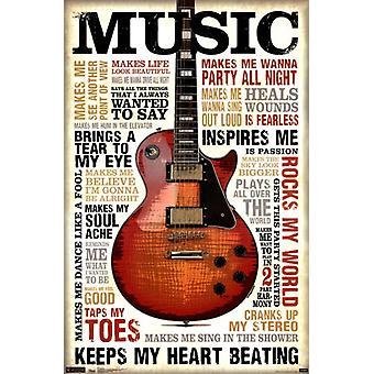 Musik inspiriert mich Poster Plakat-Druck