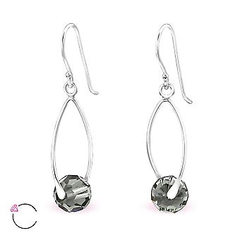 Round crystal from Swarovski® - 925 Sterling Silver + Crystal Earrings