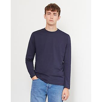 Sunspel lang ærmet T-Shirt Navy