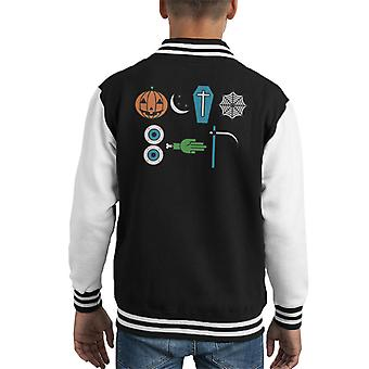 Version 1 October Halloween Kid's Varsity Jacket