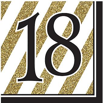 Creative Converting Black And Gold Milestone Napkins (Pack Of 16)