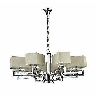 Maytoni Lighting Megapolis Modern Collection Chandelier, Nickel