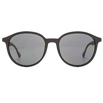 Hugo Boss Contemporary Round Sunglasses In Black Grey Havana