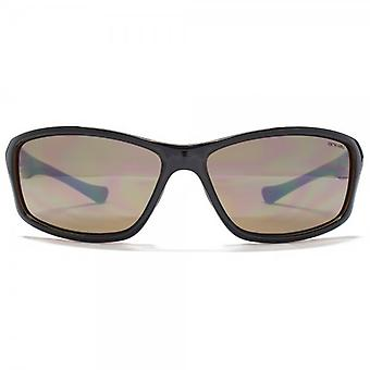 Animal Air Small Wrap Sunglasses In Black On Crystal Brown