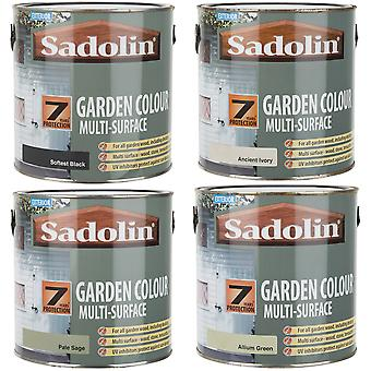 Sadolin Garden Colour Multi-Surface Woodstain Satin Finish Various Colours 2.5 L