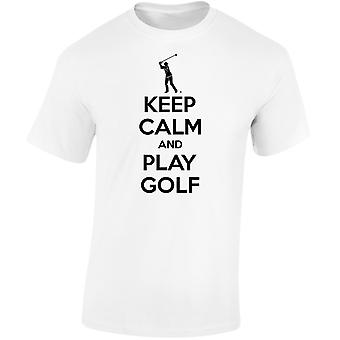 Keep Calm And Play Golf Kids Unisex T-Shirt 8 Colours (XS-XL) by swagwear