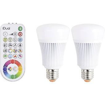 LED E27 Arbitrary 11 W = 60 W RGBW (Ø x L) 68 mm x 119 mm EEC: A JEDI Lighting colour-changing, dimmable 2 pc(s)