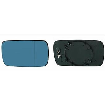 Right / Left Blue Mirror Glass (heated) & Holder For BMW 5 Series 1995-2003