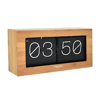 Oslo Stor Wooden Digit Flip Clock