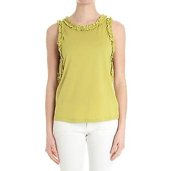 Caractere ladies G099A0869N15 green cotton top