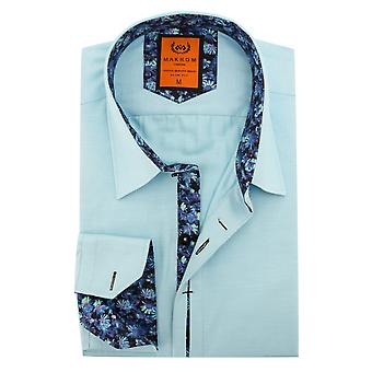 Oscar Banks Cotton Floral Trim Mens Shirt