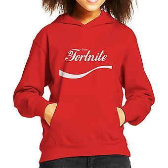 Genießen Sie Fortnite Coke Logo Kid Sweatshirt mit Kapuze