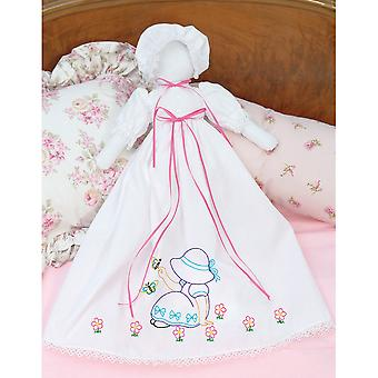Stamped White Pillowcase Doll Kit Sunbonnet Sue 1900 891