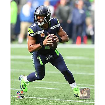 Russell Wilson 2017 azione Photo Print