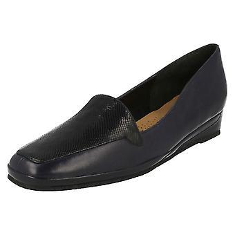 Ladies Van Dal Elegant Loafers Verona III - Midnight/Reptile Prt Leather - UK Size 5.5D - EU Size 38.5 - US Size 7.5