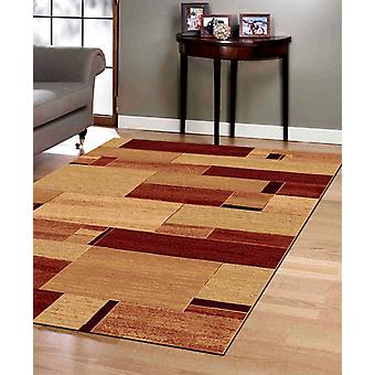 Galleria 68095-9090 A blend of light gold and russet Rectangle Rugs Modern Rugs