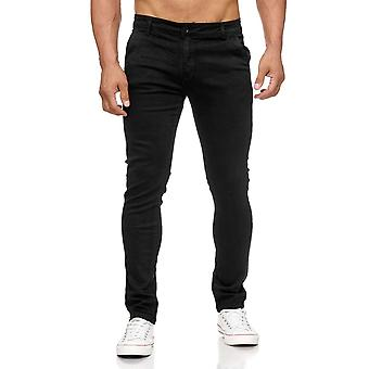 Men's Chino Pants Slim Tapered Leg Skinny Fit Jeans