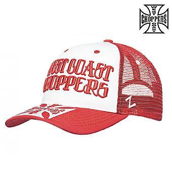 West Coast choppers Cap clutch logo round Bill trucker hat