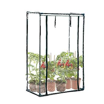Outsunny PVC Steel Outdoor PVC and Steel Greenhouse Plant Cover with Zipper 100 x 50 x 150CM Zipper Transparent