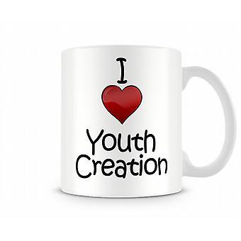 Jag älskar ungdomar skapa tryckta mugg