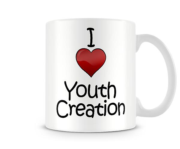 I Love Youth Creation Printed Mug