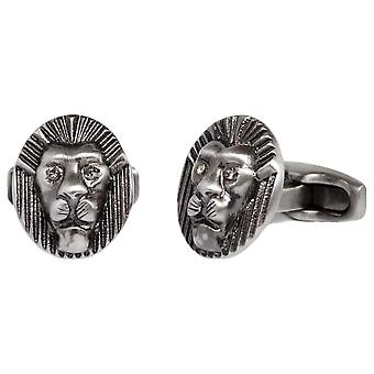 Simon Carter Lion Head Cufflinks - Grey