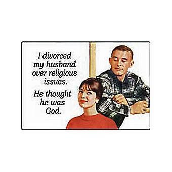 Я развелся мой муж... Смешные холодильник магнит