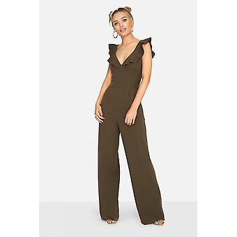 Girls on Film Sabor Frill Jumpsuit