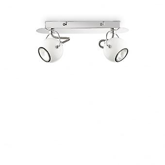 Ideal Lux Lunare Twin Wall Light White