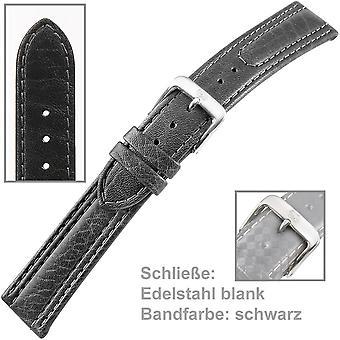Kalbsleder Uhrenband Uhrenarmband Herren schwarz U.-Armband Men 18 mm