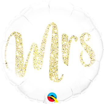 Qualatex 18in Mrs. Glitter Foil Balloon