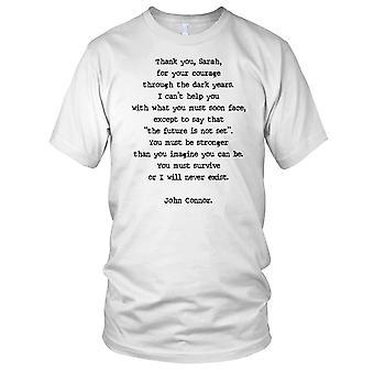 Terminator John Connor Letter Termiantor Inspired Kids T Shirt