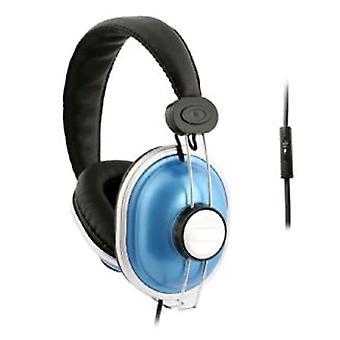 UMA - DJ-Style hoofdtelefoons met Handsfree afstandsbediening - blauw