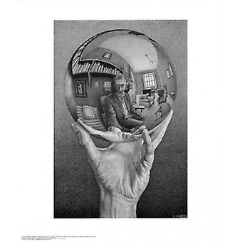 Hand mit Kugel Poster Print von MC Escher (22 x 26)