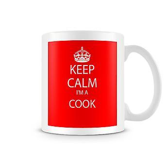 Keep Calm je suis un Mug imprimé Cook